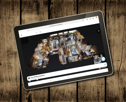 RVN Consulting Matterport Dollhouse tablet